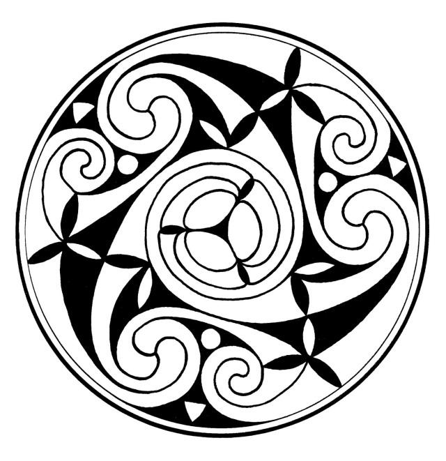 Espiral celta del Book of Durrow (Dublín)